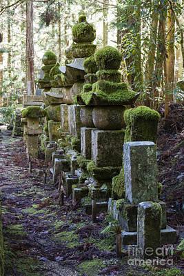 Moss Covered Stone Gravestones Poster