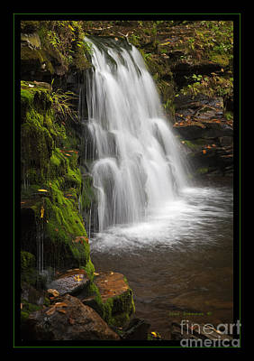 Mossy Wilderness Waterfall Cascade Poster by John Stephens