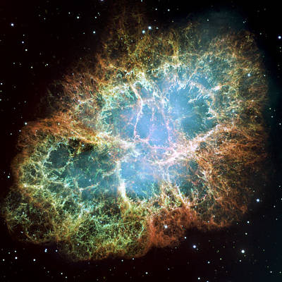 Most Detailed Image Of The Crab Nebula Poster