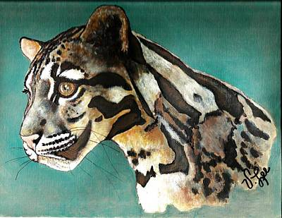 Poster featuring the painting Most Elegant Leopard by VLee Watson