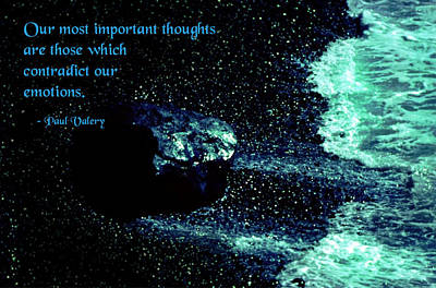 Most Important Thoughts Poster by Mike Flynn