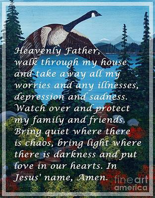 Most Powerful Prayer With Goose Flying And Autumn Scene Poster