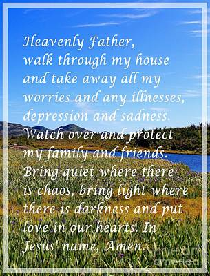 Most Powerful Prayer With Irises Poster
