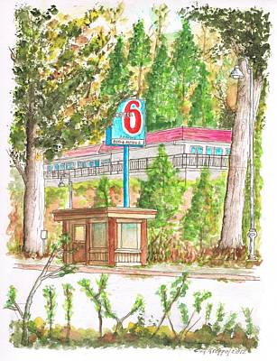 Motel 6 In Mammoth Lakes - California Poster