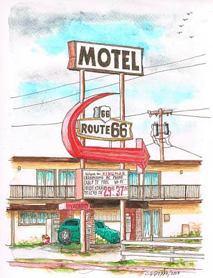 Motel Route 66 In Route 66, Andy Devine Ave., Kingman, Arizona Poster