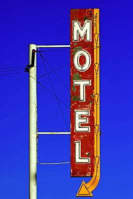 Motel Sign On Route 66 Poster by Daniel Woodrum