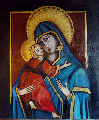 Poster featuring the painting Mother And Child by Irena Mohr