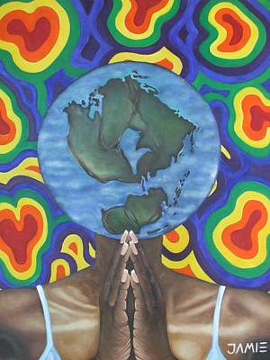 Mother Earth The Beginning Of Time Poster by Jamie Preston