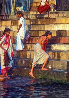 Mother Ganges - Paint Poster by Steve Harrington
