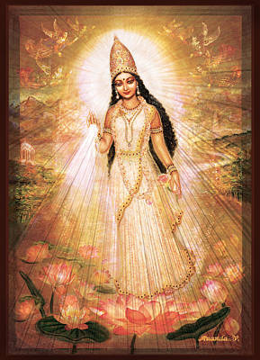 Mother Goddess With Angels Poster