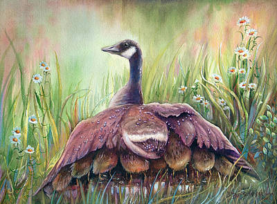 Poster featuring the painting Mother Goose by Patricia Schneider Mitchell