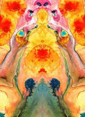 Mother Nature - Abstract Goddess Art By Sharon Cummings Poster by Sharon Cummings