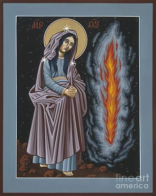 Poster featuring the painting Mother Of God Of Kosovo 087 by William Hart McNichols