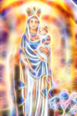 Poster featuring the painting Mother Of Light by Dave Luebbert