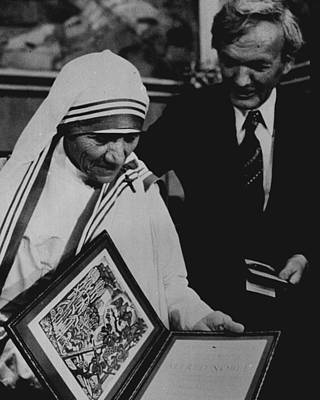 Mother Teresa Gets Award Poster by Retro Images Archive