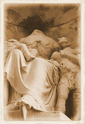 Poster featuring the photograph Mother With Children by Nadalyn Larsen