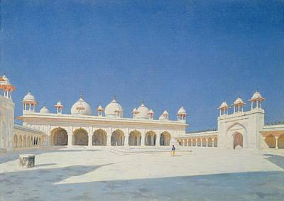 Moti Masjid, Agra Poster by Vasili Vasilievich Vereshchagin