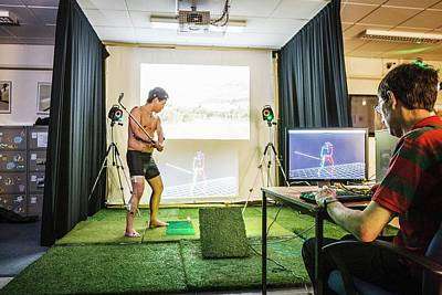 Motion Analysis Of A Golfer Poster by Gustoimages