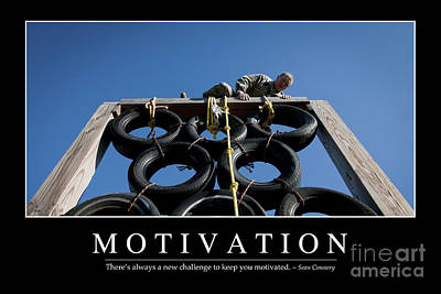Motivation Inspirational Quote Poster by Stocktrek Images