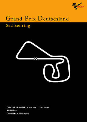 Moto Gp Germany Poster by Mark Rogan
