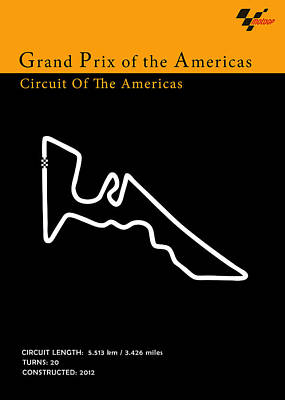 Moto Gp Of The Americas Poster by Mark Rogan