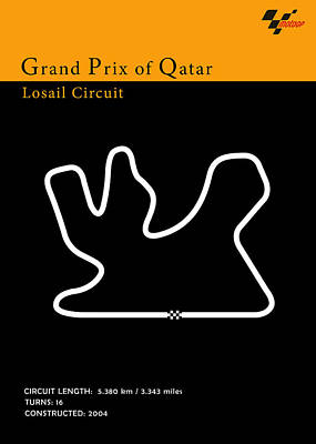 Moto Gp Qatar Poster by Mark Rogan