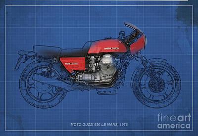 Moto Guzzi 850 Le Mans 1976 Poster