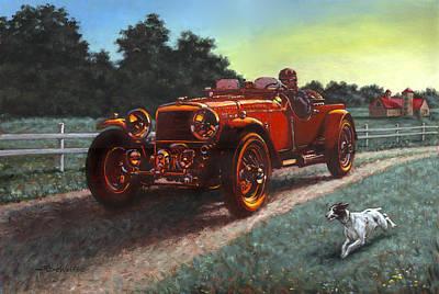 Motor Car Poster by Richard De Wolfe