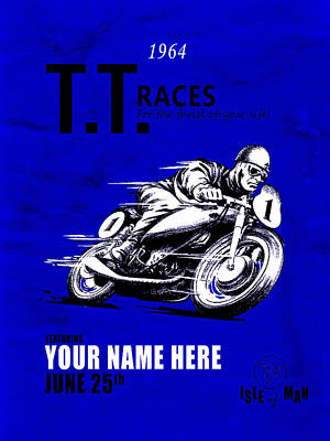 Motorcycle Customized Poster 3 Poster by Mark Rogan