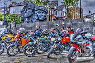 Motorcycle Rally 2 Poster by Steve Purnell
