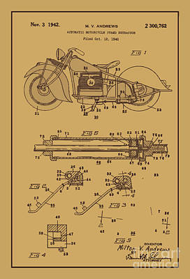 Motorcycle Stand Rust Poster by Brian Lambert