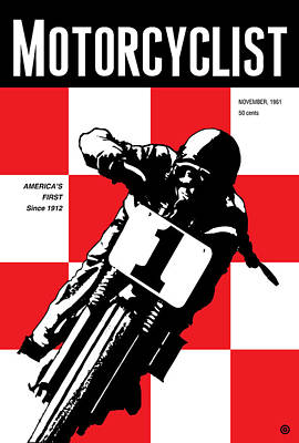 Motorcyclist Poster by Gary Grayson