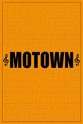 Motown Poster by Andrew Fare