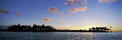Motus At Sunset, Bora Bora, Society Poster