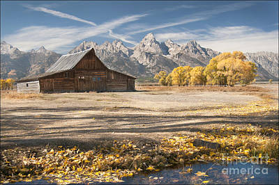 Moulton Barn Autumn Poster