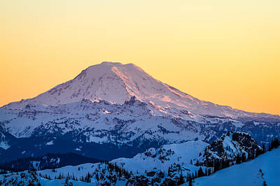 Mount Adams Sunset Poster