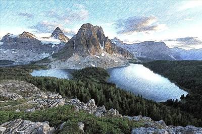 Mount Assiniboine In Pencil Poster by Maciek Froncisz