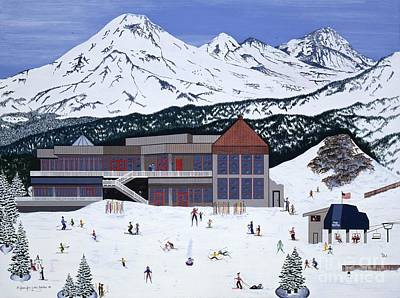Poster featuring the painting Mount Bachelor by Jennifer Lake
