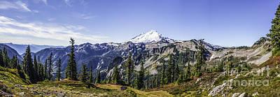 Mount Baker Poster by Frank Pali