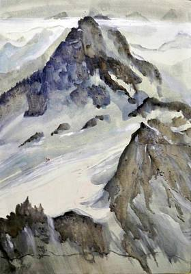 Poster featuring the painting Mount Blanc by Ed  Heaton