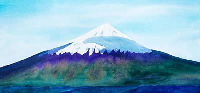 Mount Cleveland Chuginadak Poster by Frank Bright