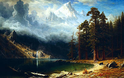 Poster featuring the painting Mount Corcoran by Albert Bierstadt