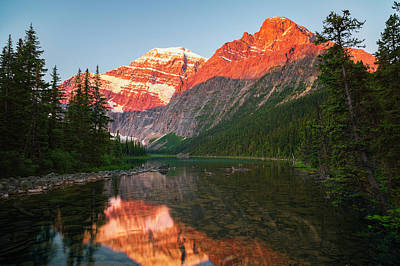 Mount Edith Cavelle In Jasper National Poster by Justin Sinclair