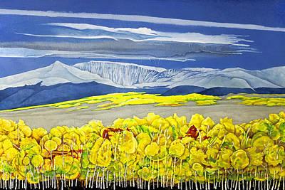 Mount Evans And Mount Bierstadt Near Kenosha Pass Colorado Poster by Dale Bargmann