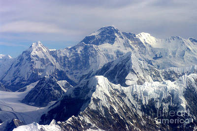 Poster featuring the photograph Mount Everest  by Jacqi Elmslie