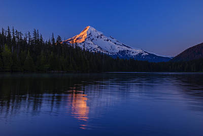 Mount Hood First Light Poster by Vishwanath Bhat