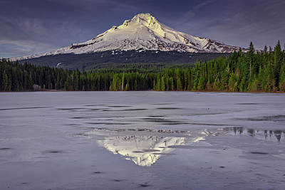 Mount Hood Reflections Poster by Rick Berk