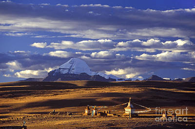 Mount Kailash And Chiu Gompa - Tibet Poster