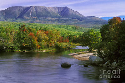 Mount Katahdin From Golden Road Poster by Jim Block