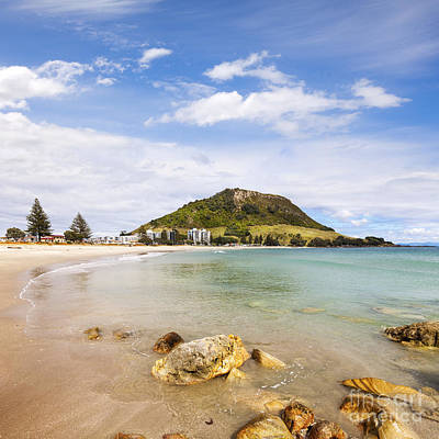 Mount Maunganui Bay Of Plenty New Zealand Poster by Colin and Linda McKie